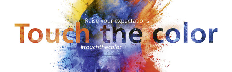 Touch the color